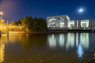 Germany, Berlin, lighted Chancellor's office by night - TAMF01388