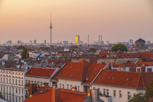 Germany, Berlin, skyline by sunset - TAMF01391
