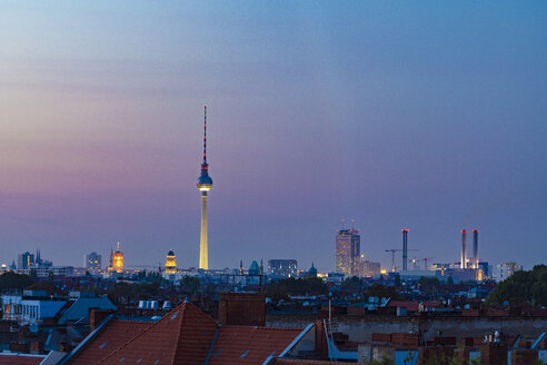 Germany, Berlin, skyline by sunset - TAMF01394