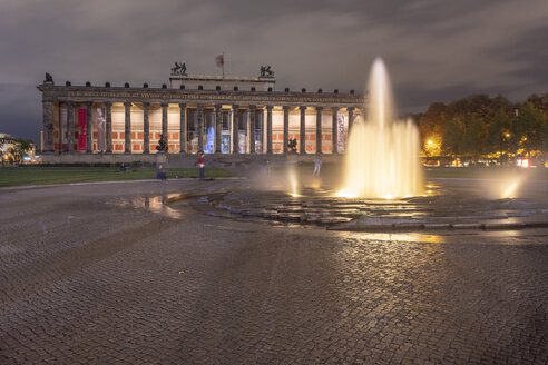 Germany, Berlin, view to lighted Altes Museum - TAM01421