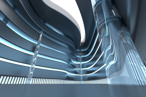 3D Rendered Illustration, Architecture visualisation of a modern shopping mall interior - SPCF00402