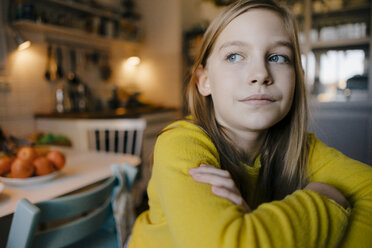 Portrait of pensive girl at home - KNSF05835