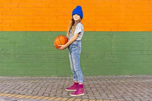 Sevilla, Spain, kid, girl, playing with a basketball, street - ERRF01231