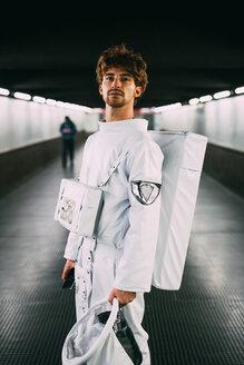 Astronaut on covered bridge - CUF50685