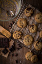 Chocolate chip cookies on baking tray - ISF21363