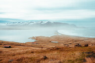 Mountains in background, Eskifjörður, Sudur-Mulasysla, Iceland - CUF51253