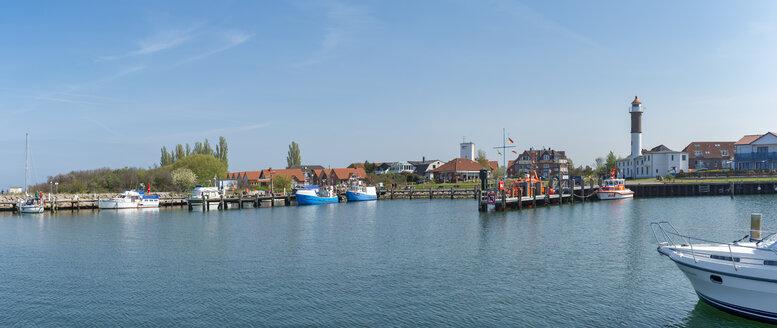 Panorama, Hafen, Leuchtturm, Timmendorf, Insel Poel, Mecklenburg-Vorpommern, Deutschland - FRF00839