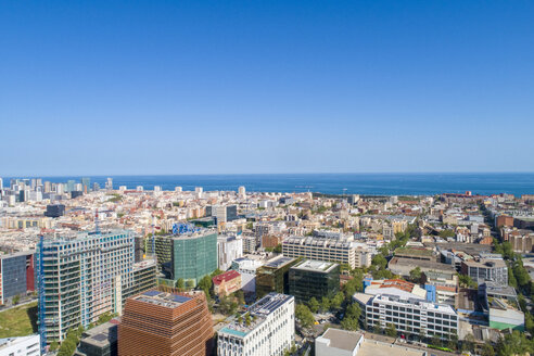 View from above of Barcelona city near Agbar Tower, Torre Glòries - TAMF01430