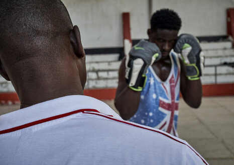 Boxer training with coach - VEGF00180