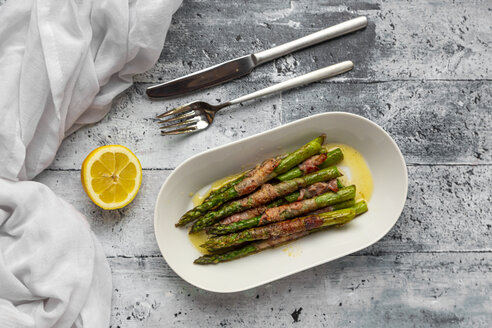 Green asparagus with bacon and lemon butter sauce - SARF04273