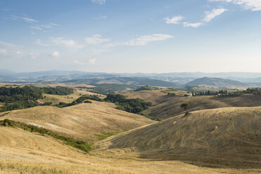 Landscape with harvested fields, Tuscany, Italy - OJF00338