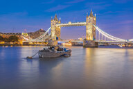 UK, London, illuminated Tower Bridge at night - TAMF01446