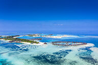 Aerial view over Olhuveli and Bodufinolhu with Fun Island Resort, South Male Atoll, Maldives - AMF07026