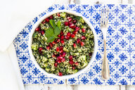 Bulgur herbs tabbouleh with pomegranate seeds - LVF08052