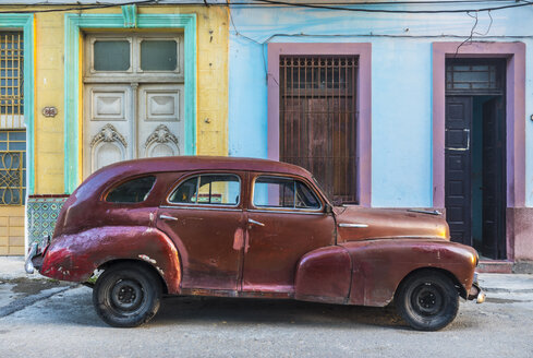 Repaired vintage car, Havana, Cuba - HSIF00597