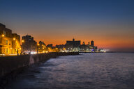 View to Malecon at sunset, Havana, Cuba - HSIF00621