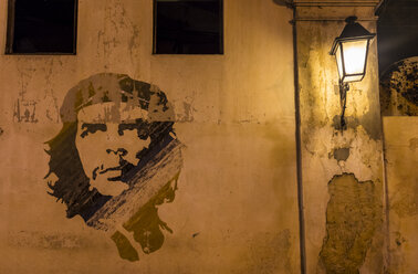 Graffitto of Che Guevara on facade - HSI00645