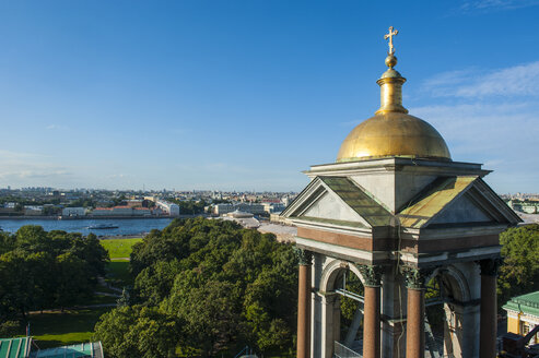 View from the Saint Isaac's Cathedral with a golden cupola, St. Petersburg, Russia - RUNF02114
