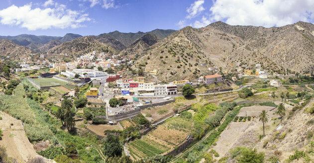 Blick auf Vallehermoso, Panorama, La Gomera, Kanarische Inseln, Kanaren, Spanien - MAMF00667