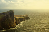 Aerial view of Neist Point cliffs, Isle of Skye, Scotland - BLEF03893