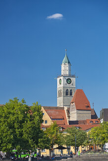 Minster seen from the water, Ueberlingen, Lake Constance, Germany - SH02190
