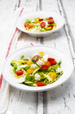 Zoodles salad with tomatoes, Buffalo Mozzarella and basil - LVF08063