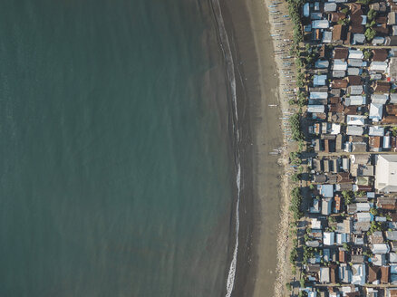 Indonesia, Sumbawa Island, Maluk, Aerial view of coastal town, beach - KNTF02771