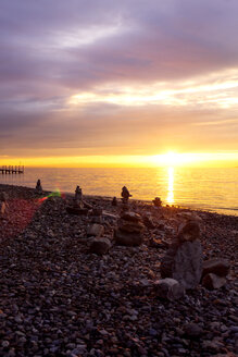 Beach at sunrise, Constance, Lake Constance, Germany - PUF01490