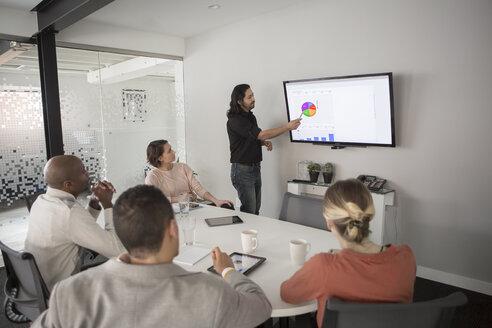 Business people talking in meeting - BLEF04780