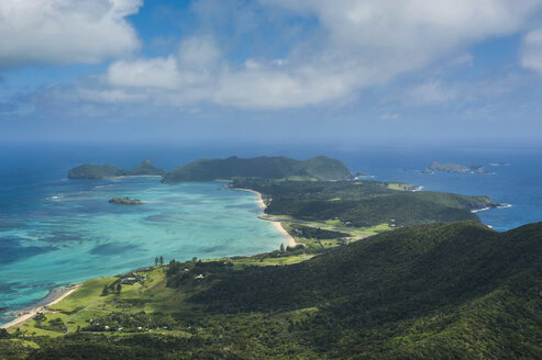 View from Mount Lidgbird over Lord Howe Island, New South Wales, Australia - RUNF02173