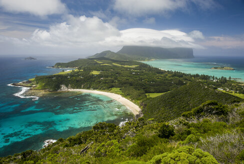 View from Malabar Hilll over Lord Howe Island, New South Wales, Australia - RUNF02188