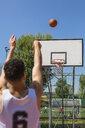 Young man playing basketball - MGIF00507