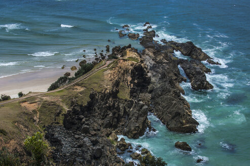 Rocky cliffs of Cape Byron State Conservation park,Byron Bay, New South Wales, Australia - RUNF02204