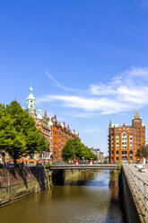 View to old warehouse district, Hamburg, Germany - PUF01553