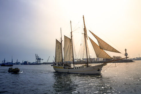 Sailing ship at Port of Hamburg, Hamburg, Germany - PUF01571