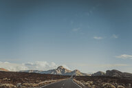 Empty road in Teide National Park, Tenerife, Spain - CHPF00537