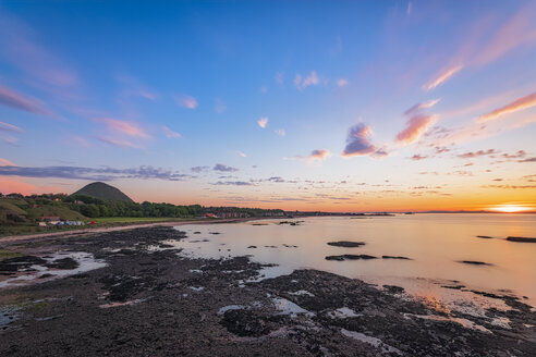Sunset over the town, North Berwick, East Lothian, Scotland - SMAF01252