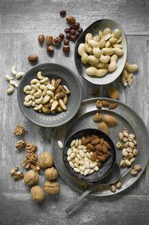 Peanuts, hazelnuts, cashew nuts, brazil nuts and almonds - ASF06434