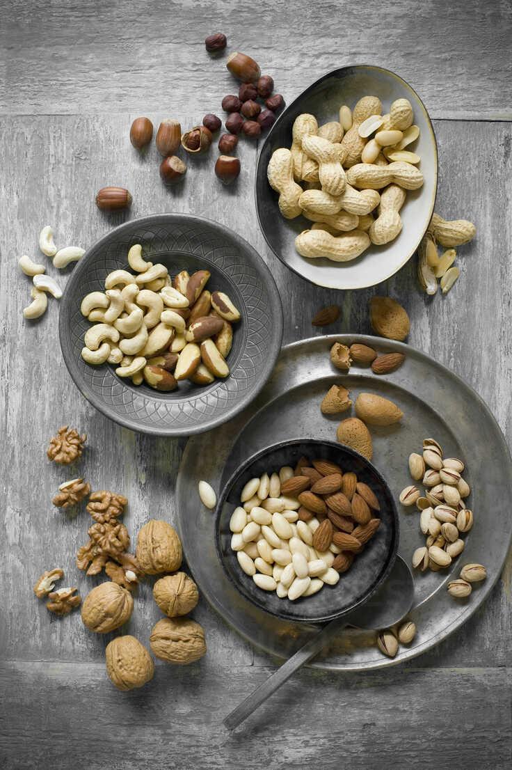 Peanuts, hazelnuts, cashew nuts, brazil nuts and almonds - ASF06434 - Achim Sass/Westend61