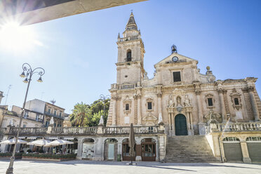 San Giovanni Cathedral in backlight, Ragusa, Sicily, Italy - MAMF00739