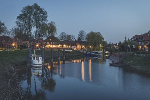 Harbor in the evening, Hitzacker, Lower Saxony, Germany - KEBF01244