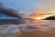 Big Beach at sunset, Makena Beach State Park, Maui, Hawaii, USA - FOF10840