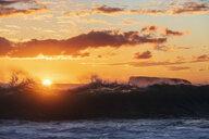 Big Beach at sunset, Makena Beach State Park, Maui, Hawaii, USA - FOF10846