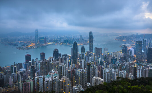 Hong Kong Central skyline and Victoria Harbour, Hong Kong, China - HSIF00661
