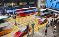Traffic in Hong Kong Central, Hong Kong, China - HSIF00667