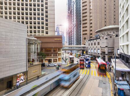 Trams in Hong Kong Central, Hong Kong, China - HSIF00676