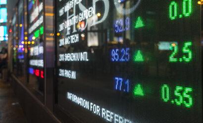 Stock Market Display, Hong Kong, China - HSIF00682