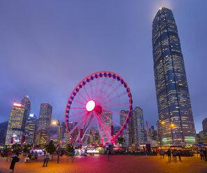 Hong Kong Central Ferris Wheel at night, Hong Kong, China - HSIF00685