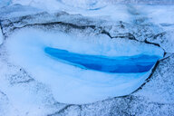 Huge hole in the ice of the Fox Glacier, South Island, New Zealand - RUNF02477