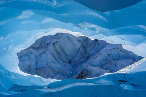 Very bluie ice in an Ice cave in the Fox Glacier, South Island, New Zealand - RUNF02486